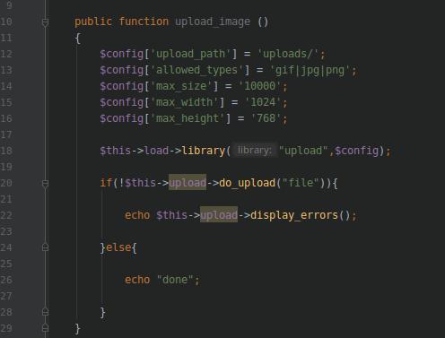CodeIgniter kodu